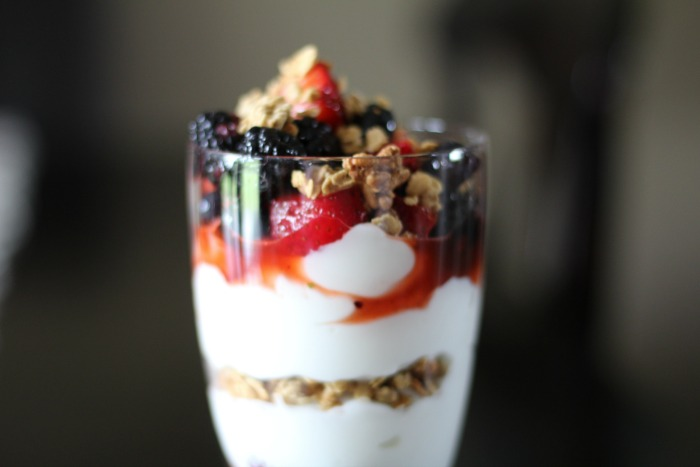 Summer Berry Fruit Parfait