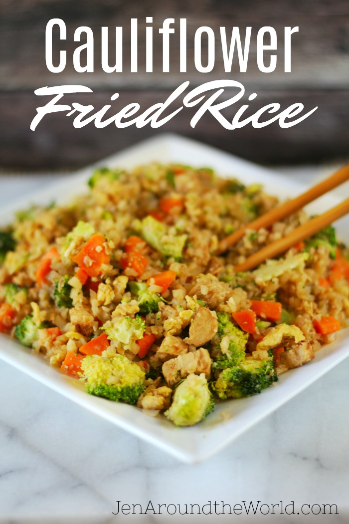 Cauliflower Fried Rice is healthy and full of flavor without all the extra calories