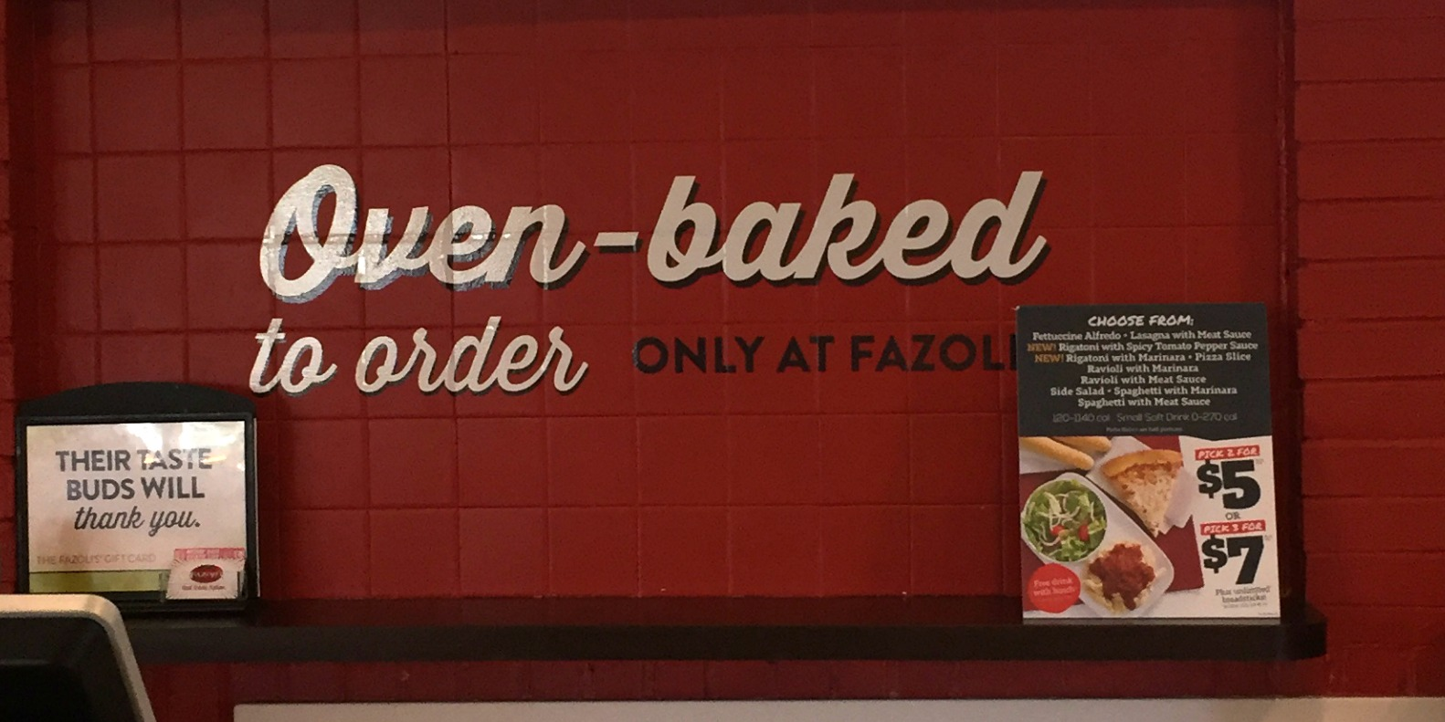 Fazoli's® New Naturally Italian Menu