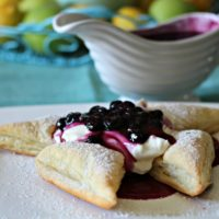 Blueberry Cream Cheese Pinwheels #SummerDessertWeek