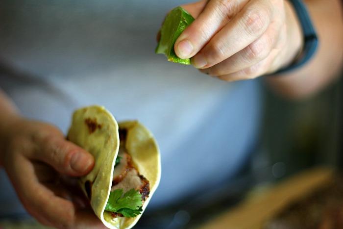 Quick easy pork tacos