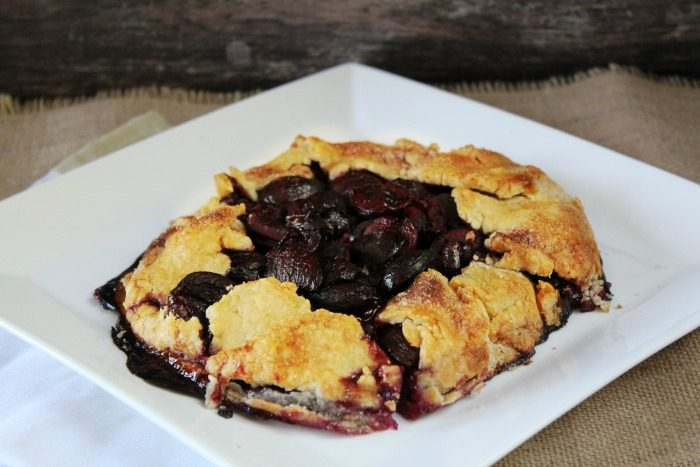 This quick and easy rustic cherry galette will have you drooling and wanting another piece!
