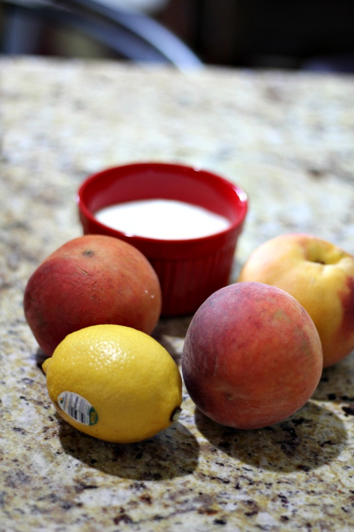 This quick and easy homemade peach jam is perfect for using up leftover over ripe peaches