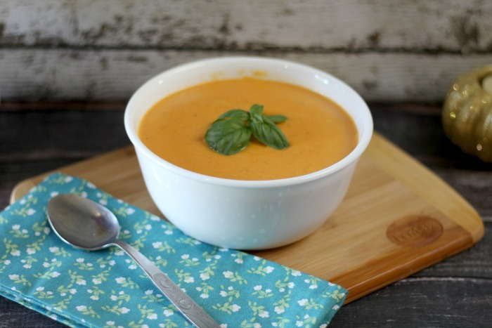 Creamy Red Lentil Roasted Carrot Soup
