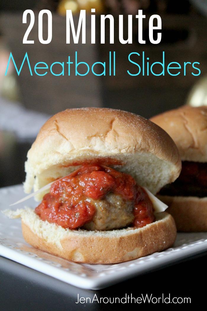 20 minute meatball sliders