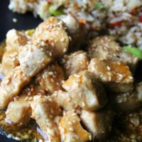 Sesame Chicken with 7 Minute Fried Rice
