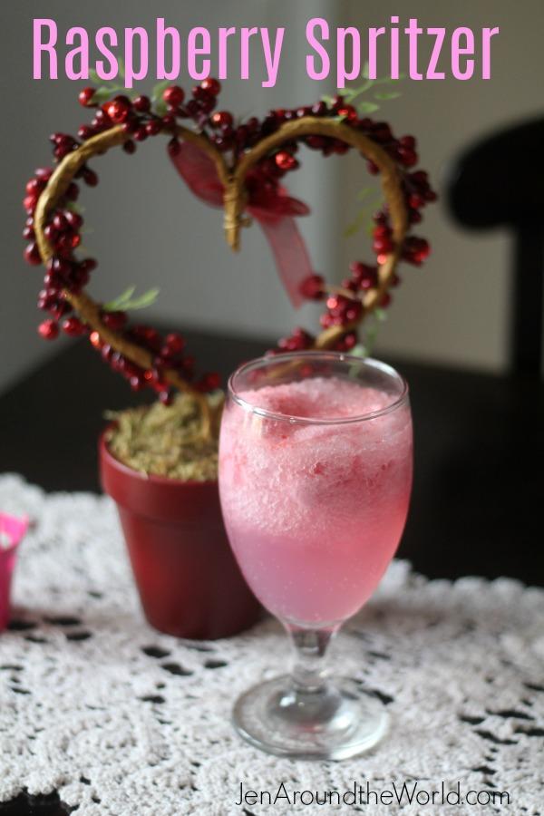 Raspberry Spritzer for Valentine's Day