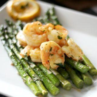 One Pan Lemon Shrimp and Asparagus