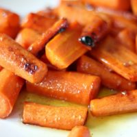 Brown Butter Honey Garlic Roasted Carrots