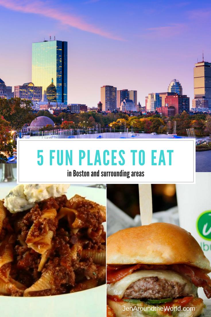 5 Fun Places to Eat in Boston