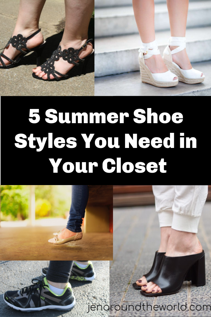 5 Summer Shoe Styles You Need in Your Closet