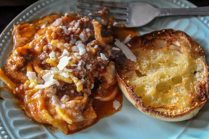 One Pan Spaghetti dish