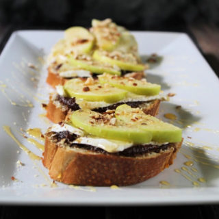 Brie Apple Honey Crostini
