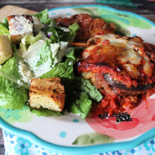 Classic Caesar Dressing and Salad with Homemade Croutons