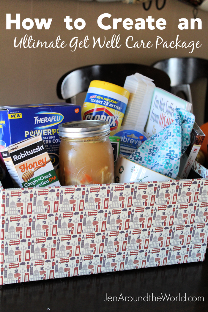 Get Well Care Package and Homemade Chicken Noodle Soup