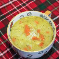 Leftover Turkey Orzo Soup