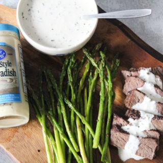 Pepper Steak with Horseradish Cream Sauce