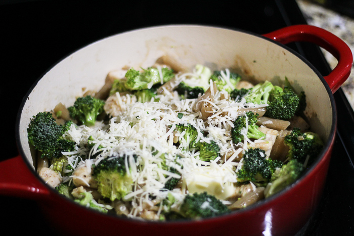 One Pan Gluten Free Chicken Broccoli Pasta