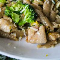 One Pan Gluten-Free Broccoli Chicken Pasta