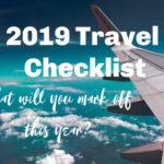 2019 travel checklist