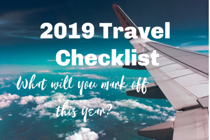 2019 travel checklist