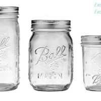 Ball Mason Jars 8 oz, 16 oz, 32 oz Bundle - Regular & Wide Mouth Ball Glass Canning Jars with Lids Variety Pack