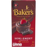 Baker's Semisweet Baking Chocolate Bar, 4 Ounce