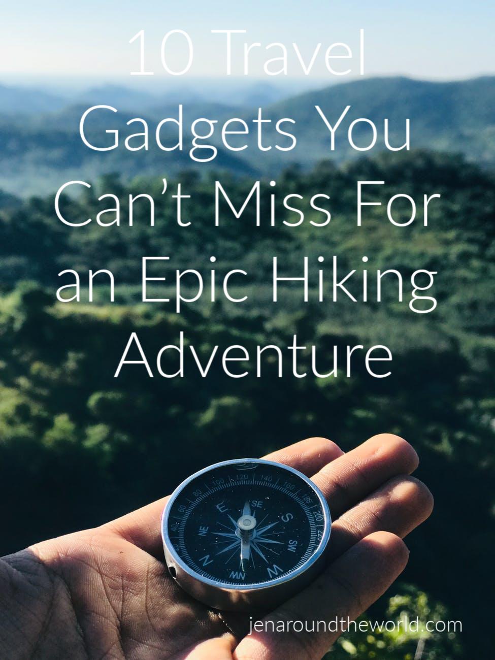 hiking travel gadgets