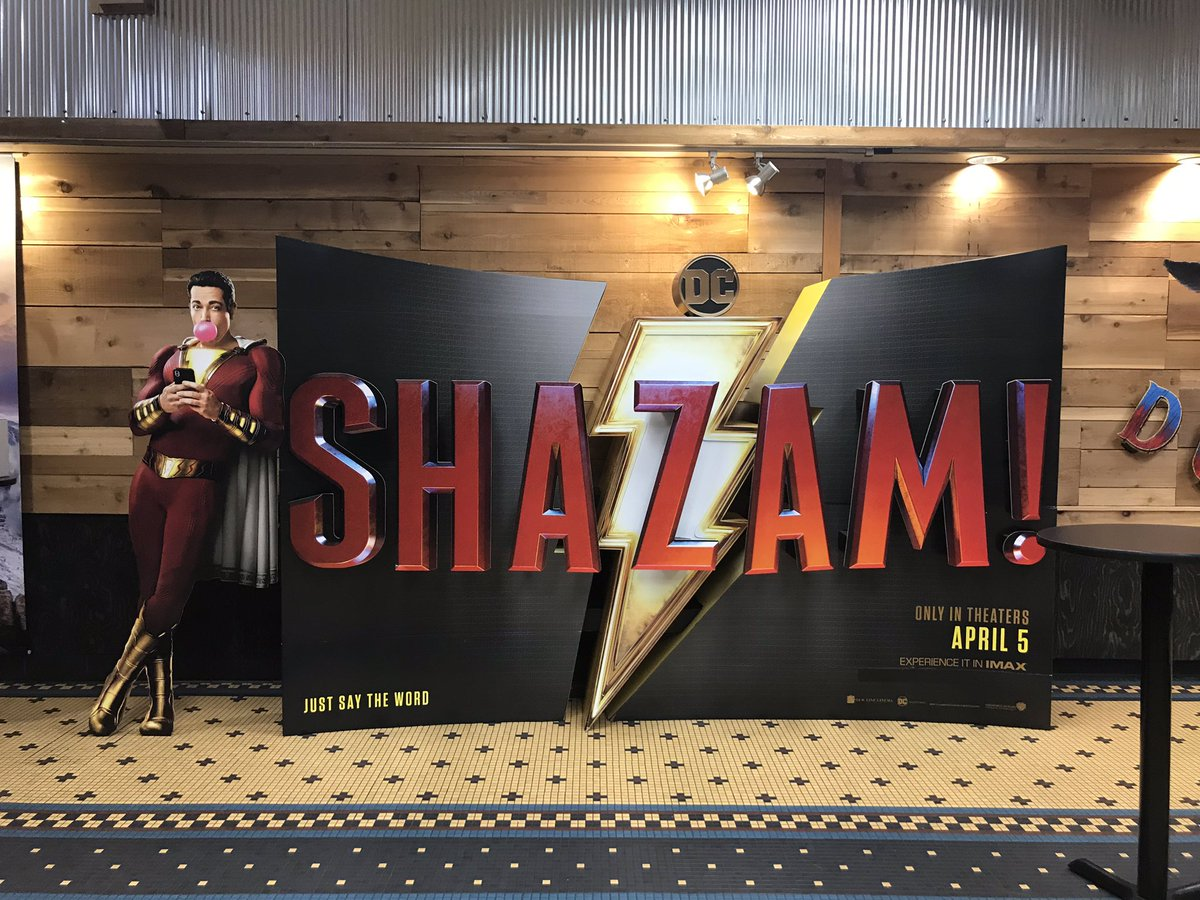 inside the Branson IMAX you will find the Shazam poster