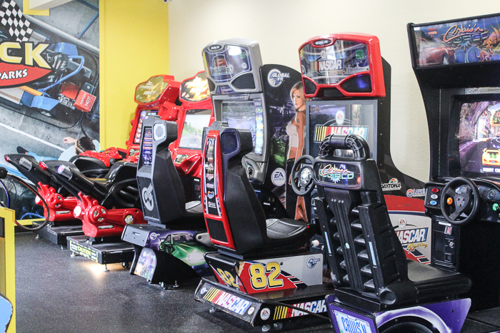 driving games in the game room at stone castle