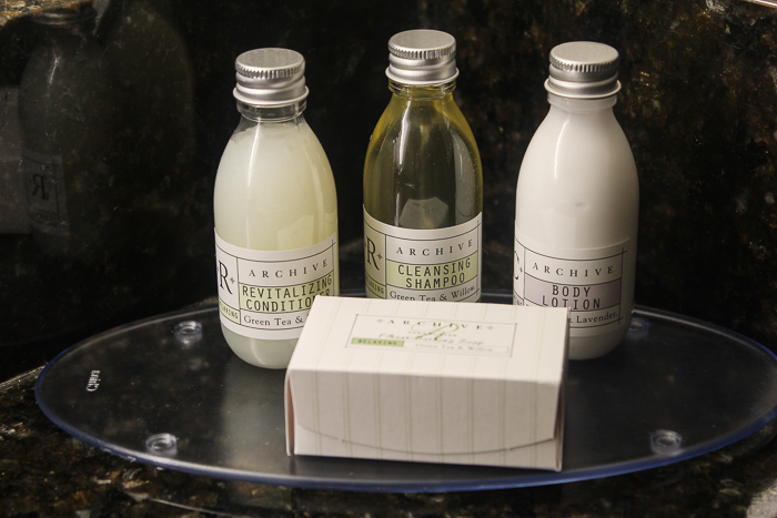 complimentary products at the university plaza hotel