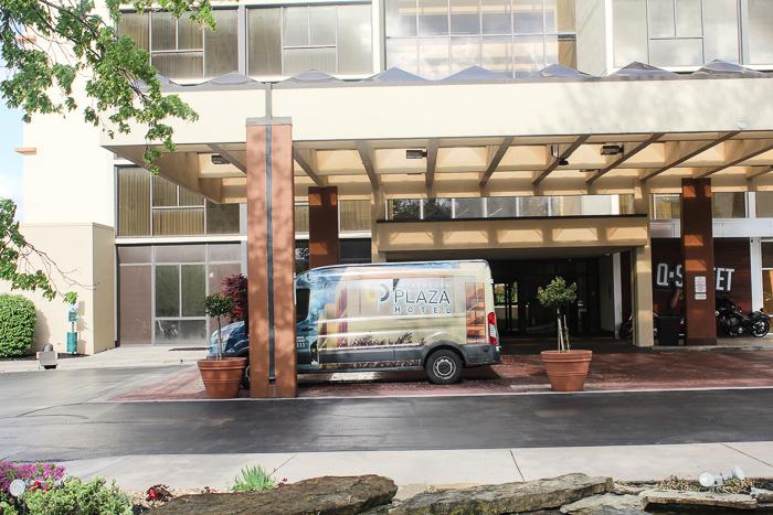 shuttle van for university plaza hotel