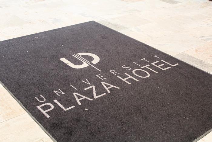 entrance to the university plaza hotel