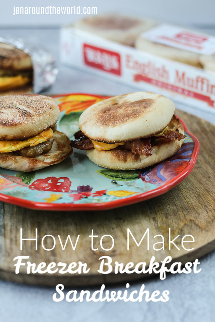 On the go freezer breakfast sandwiches