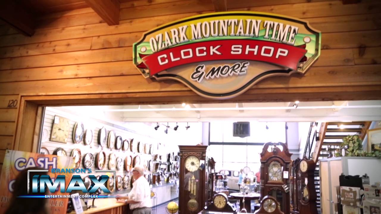 clock shop photo inside the Branson IMAX