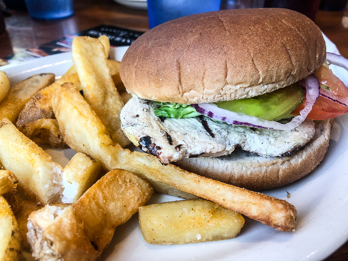 grilled chicken sandwich at fall creek