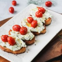 Herbed Ricotta Toast with Sautéed Tomatoes