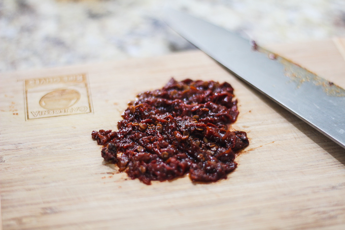 minced and diced chili in adobo