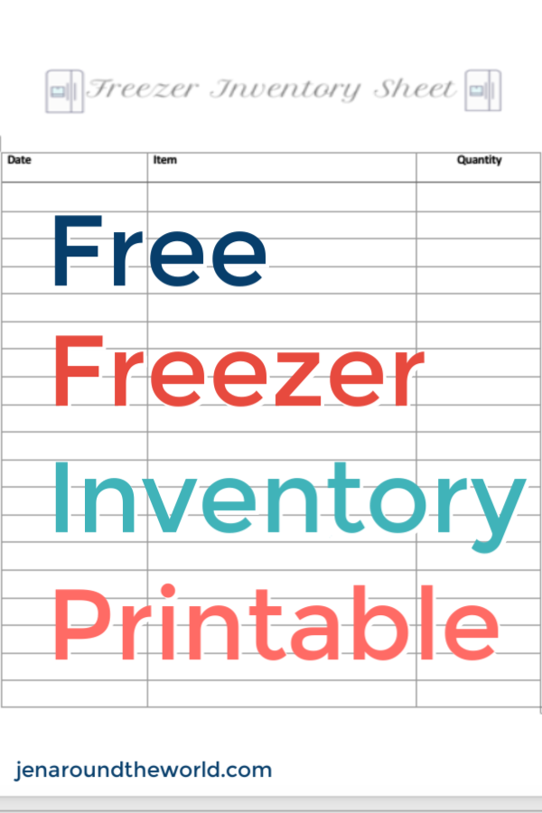 image about Freezer Inventory Printable referred to as Free of charge Printable Freezer Stock Sheet - Jen In the vicinity of the World-wide