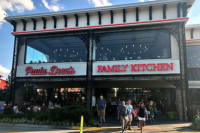 front of Paula deens familiy kitchen in pigeon forge