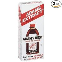 Adams Best Twice as Strong Vanilla 4oz Glass Bottle (Pack of 3)