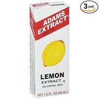 Adams Extract Flavoring 1.5oz Bottles (Pack of 3) Choose Flavor Below (Lemon Extract 1.5oz)
