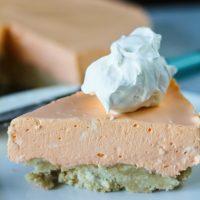 No Bake Orange Creamsicle Cheesecake