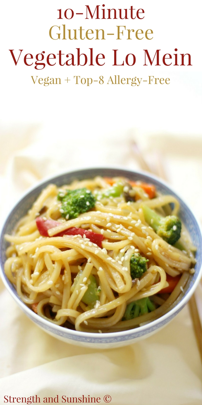 10-Minute Gluten-Free Vegetable Lo Mein