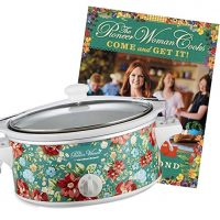 The Pioneer Woman 6-Quart Portable Vintage Floral Slow Cooker with The Pioneer Woman Cookbook