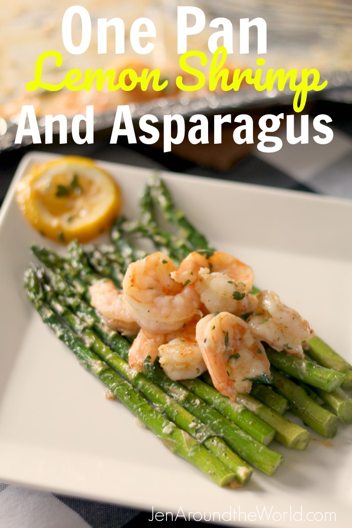 One Pan Lemon Shrimp and Asparagus
