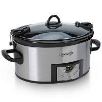 Crock-Pot SCCPVL610-S-A 6-Quart Cook & Carry Programmable Slow Cooker with Digital Timer, Stainless Steel