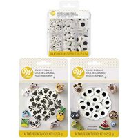 Wilton Halloween Assorted Candy Eyeballs Set, 3-Packs