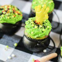 Creepy Cauldron Cupcakes