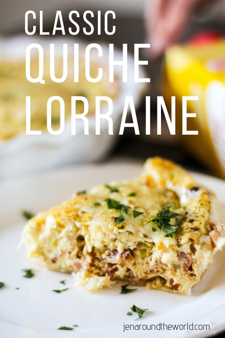 Classic Quiche Lorraine with 1/2 the